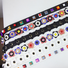 SFG FASHION Flower Women Bag Strap Boho Style Summer PU Straps For Bags Elegant Lengthened Replacement Shoulder Straps(China)