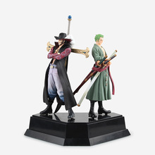 SAINTGI  One Piece Roronoa Zoro Straw Hat Pirates Luffy VAH HEROES New World Anime Dracule Mihawk PVC 21CM Limit Garage Toy