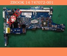 747072-001 747072-601 For HP ZBOOK 14 laptop motherboard  CPU  i5-4200U  With graphics card .tested well and working prefect!