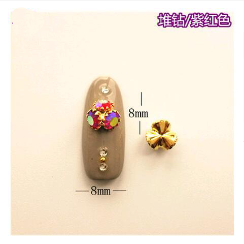 Модные ногтей ювелирные украшения Блеск Swarovski горный хрусталь шило кристалл алмаза для DIY 3D Nail Art Украшение Маникюр(China)