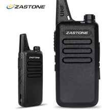 2pcs Zastone ZT-X6 Professional Handheld Portable Radios Cheap Walkie Talkies 400-470Mhz UHF Two Way Ham Radio Comunicador(China)