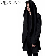 Women Hooded With Black Gown Best Quality Hip Hop Mantle Hoodies and Sweatshirts long Sleeves Design Cloak Winter Coats Outwear(China)