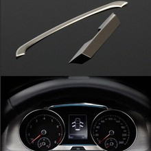 2pcs/set Stainless Steel Dashboard Decoration For Volkswagen VW Golf 7 VII MK7 2013 2014 Car Styling