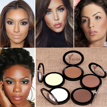 Dark Skin Cosmetic Bronzer Blush Makeup Brightener Matte Minerals Whiten Highlighting Face Powder Bronzer Contouring Makeup(China)
