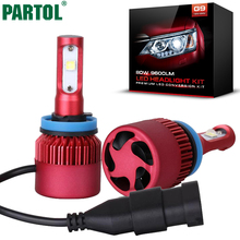Partol G9 H11 H8 H9 Car LED Headlight Bulbs 80W 9600LM CREE XHP50 Chip All in one LED Headlamp Automobile Fog Lamp 6500K 12V