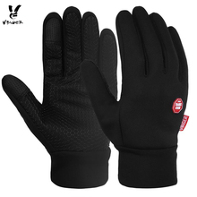 VBIGER Running Cycling Outdoor Sports Gloves Waterproof Windproof Touch Screen Anti-slip Gloves Mittens Unisex(China)