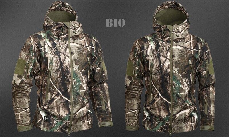 Mege Shark Skin Soft Shell Military Tactical Jacket Men Waterproof Army Fleece Clothing Multicam Camouflage Windbreakers 4XL 32