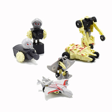 3pcs/lot super mini Transformation Classic Robot Cars Deformation of the robot Action Toy Figures