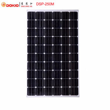 Dokio Brand 250W Monocrystalline Silicon Solar Panel China 30V 1640x980x40MM Size Top Quality Solar Battery China #DSP-250M