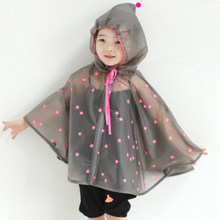 Cute Impermeable Kids Rain Coat Children Raincoat Rainwear/Rainsuit,Kids Waterproof Animal Raincoat Student Poncho Rain Gear