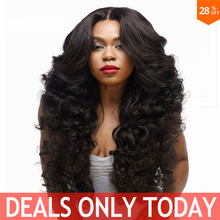 Long Wavy Synthetic Wigs For Black Women Natural Cheap Hair Wigs With Bangs Pelucas Harajuku Miku Wig Heat Resistant 28In Sia