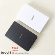 Free shipping 2016 New Style 2.5 inch Twochi A1 USB2.0 HDD 60GB Slim External hard drive Portable Storage disk wholesale Price
