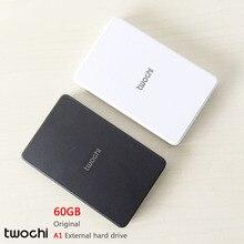 Бесплатная доставка 2016 Новый стиль 2.5 дюймов Twochi A1 USB2.0 HDD 60 ГБ тонкий внешний жесткий диск портативный дисковое хранилище оптовая продажа цена
