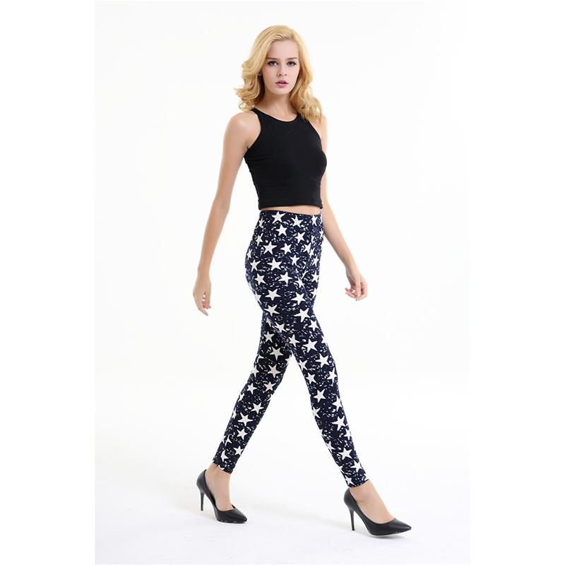 Dasbayla 17 Women Print Fashion Leggings Low Waist Thin stretch Ankle Skinny Pants Sexy Slim Ladies leggings Female 02 3