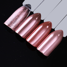 BORN PRETTY Mirror Rose Gold Black Nail Glitter Powder Shining Nail Art Chrome Pigment Nail Decoration Dust UV Gel Polish(China)