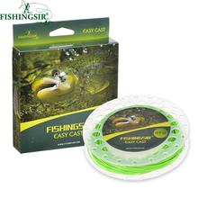 FishingSir 100FT Weight Forward Floating Fly Fishing Line High Quality Fishing Wires Sea Pesca Accessories WF 3F 4F 5F 6F 7F 8F(China)