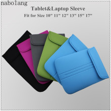 Nabolang Shockproof Neoprene Computer Laptop Bags For MacBook 10 11 12 13 15 17 inch Tablet PC Notebook Protective Sleeve Bag(China)