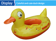 2017 Funny Kids Baby Inflatable Swimming Pool Ring duck Baby Swim Seat Horn Float Boat Swimming Pool & Accessories squeaky toys