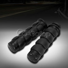 "Motorcycle Hand Grips 1"" Black For Harley Sportster Dyna Softail VRod Chopper /For Kawasaki Vulcan VN 500 750 800 900 1500 1600"