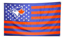 Toronto Blue Jays Stars and Stripes Outdoor Banner Flag 3' X 5'(China)