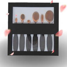 6Pcs Oval Toothbrush Makeup Brushes Set Pro Foundation Powder Blush Concealer Brush Kits Eyeshadow Eyeliner Lips Brush With Box