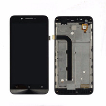 720x1280 LCD Display Glass Panel Touch Screen Digitizer Assembly +frame Replacement For Asus ZenFone Go ZC500TG Z00VD 5.0 Inch
