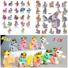 AILAIKI 20Pcs/lot 3CM Simba Filly Little Horse Dolls Witchy Unicorn Stars Butterfly etc. Toy Mini Horses Doll Kid Christmas Gift(China)