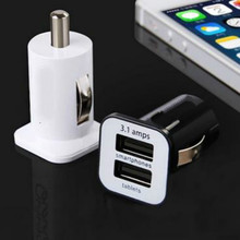 1 Piece Micro Auto Universal Dual 2 Port USB Car Charger For Phone 3.1A Mini Car Charger Adapter Cigar Socket