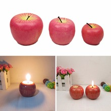 1pcs 3 Size Christmas Eve Red Apple Candle Table Perfume Craft Decoration Romantic Decorations Christmas Wedding Party Supplies(China)