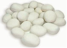 bio ethanol fireplace accessories ceramic pebbles FDSP02(China)
