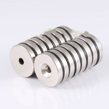 10pcs 25*5mm With Hole 5mm Strong Magnets Ring Countersunk Rare Earth NdFeB Neodymium Magnetic Tape 25*5*5mm Door Magnet