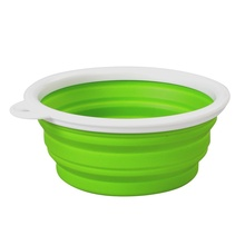 Folding Collapsible Silicone Water Dish Puppy Pet Dog Cat Portable Feeder Travel Feeding Bowl