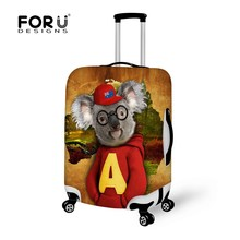 Waterproof Stretch Travel Luggage Suitcase Protective Cover Animal Koala Kangaroo Print Luggage Accessories To 18-30 Inch Cases(China)