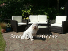 Aluminium rattan Sofa Set Garden Conservatory Furniture Arm Chairs Sofa Coffee Table