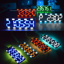 DIY 6 Digit LED Large Screen Digital Tube Clock Kit Touch Control display time(China)