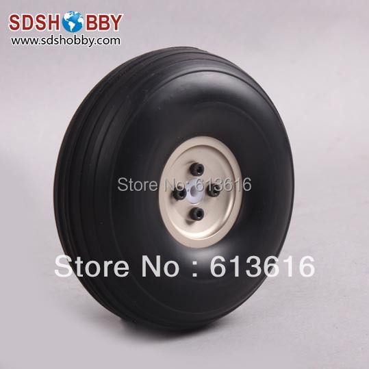 8.5inch PU Wheel for RC Airplane H65mm with D6mm CNC Aluminum Hub<br><br>Aliexpress