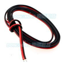 50m Red Black 2 pin cable 12V insulated extension wire cord for led strip 3528 5050,tinned copper 2pin cable electric wire(China)