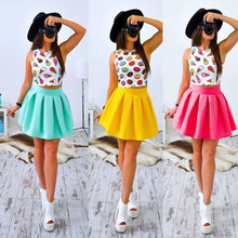 Buy 2018 Summer Dress New Style Sexy Women Print Mini Party Cute Dresses Casual Fashion Female Floral Two Pieces Clothing for $5.99 in AliExpress store