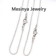 10pcs 1.5mm width silver 316L stainless steel ball chain necklace for floating charm glass locket,16'' 24'' 30''