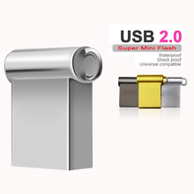Free Shiping Mini Metal USB Flash Drive USB Pendrive 16GB/32GB/64GB flash drive usb stick 4GB/8GB memory USB 2.0