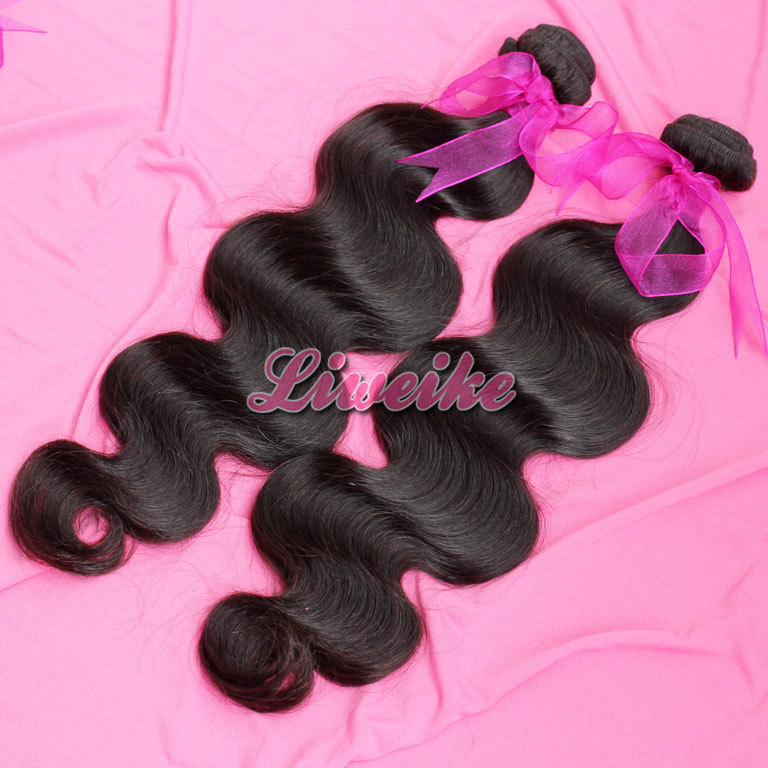 unprocessed Indian virgin hair body wave hair extensions 8-30 1pc/lot 100g/pc free shipping cheapest price color 1b,2#1#<br><br>Aliexpress
