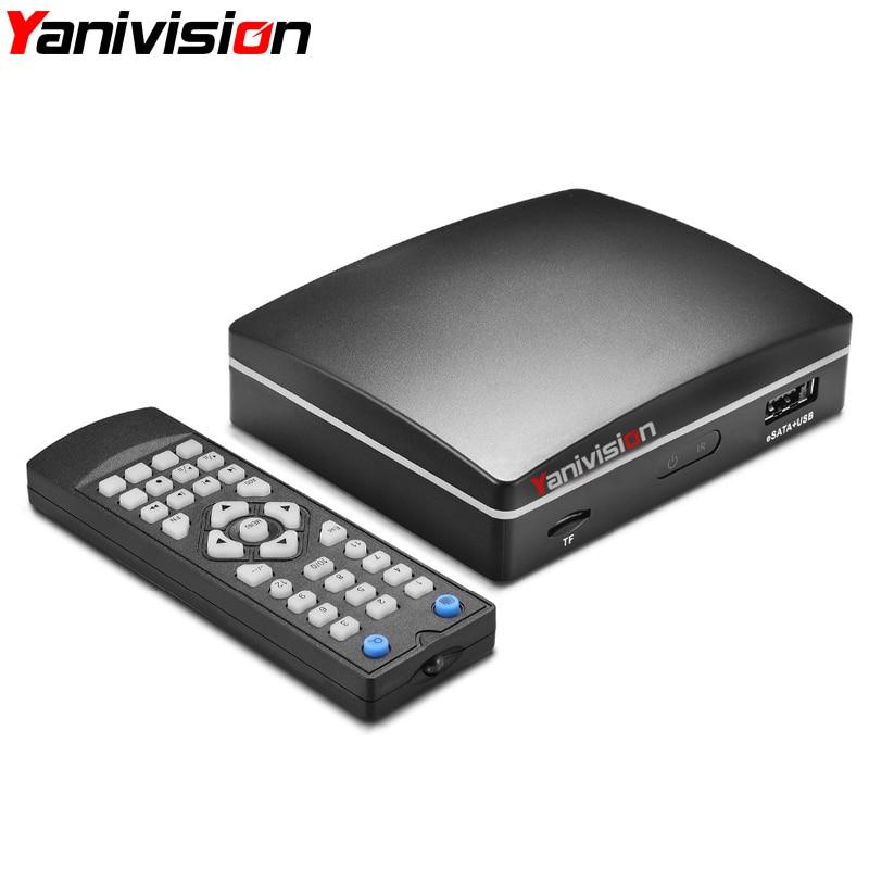 Mini 4CH CCTV Video Recorder DVR AHD 1080N 5 in 1 Hybrid DVR For AHD Analog IP TVI CVI Camera Remote Control eSATA Ports<br>