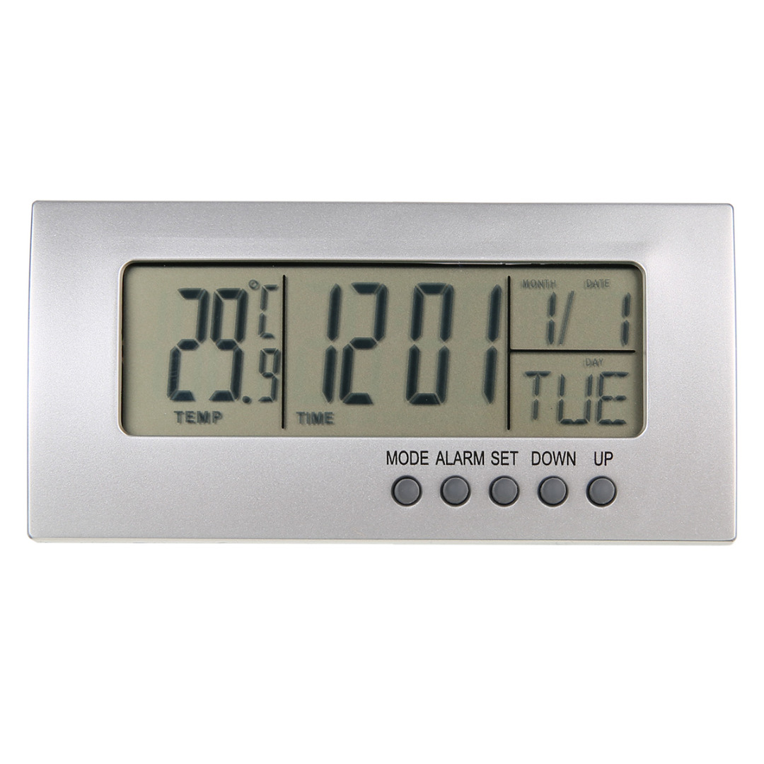 Digital Alarm Clock LCD Display Calendar Snooze Alarm Clock Desktop Digital Table Clocks for Kids Alarm Clock