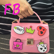 Candy Rubber Spoof Jelly Bag  Famous Designer Shape 2016 Women Waterproof Handbags Jelly Female Summer Beach Silicone Bag Hot