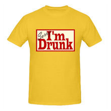 RTTMALL Casual Summer I am Drunk Man t shirt 2017 Funny Graphic Printed Tees Cotton Sorry.... Guys Tee-shirts Camisa De Basquete