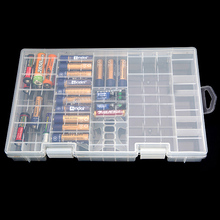 Modern Design Best Price AAA AA C D 9V Battery Holder Hard Plastic Case Storage Box Rack Transparent Fit For Collection(China)