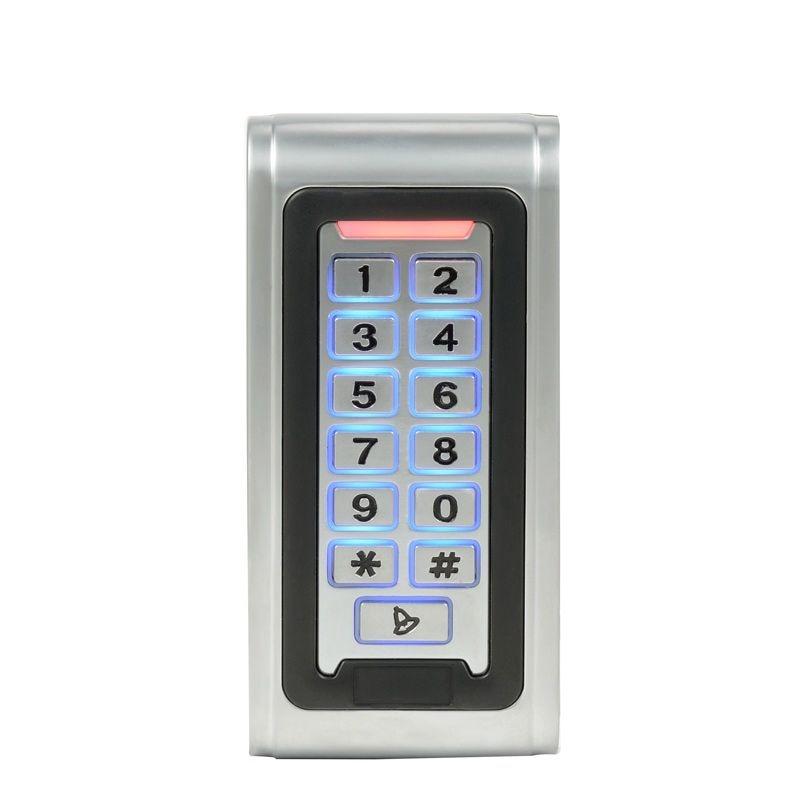IP68 Proximity rfid 125khz 13.56mhz ID/IC keypad Metal Door Access Control standalone Entry Door Lock Keypad<br>