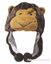 Brown Monkey Hat Animal Dress Children Costume Free Size
