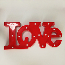 3D LOVE Star HOME Night Lamp with 11LED Battery operated White Cloud Letter light For Christmas Wedding Decoration Kid's Gift