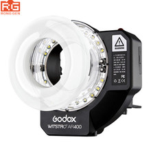 Godox AR400 400W Li-ion Battery LCD Panel Powerful Macro LED Ring Flash Speedlite Video Light Kit With Free DHL EMS
